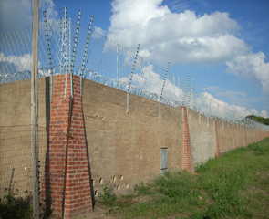 Security Electric Fence on a Wall